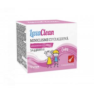 Miniclisme cu glicerina, pentru copii, LaxaClean - 6 buc