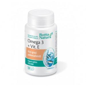 Omega 3 + Vitamina E - 30 cps