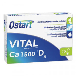 Ostart Vital Ca 1500 + D3 - 10 dz