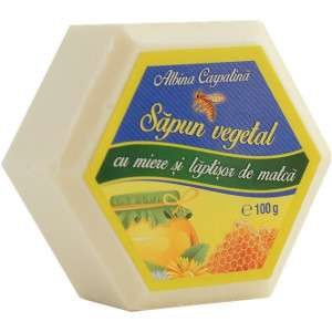 Sapun hexagonal cu miere si laptisor de matca - 100g