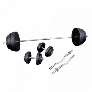 Set greutati fitness bara+discuri 91kg. OW1306, TheWay Fitness