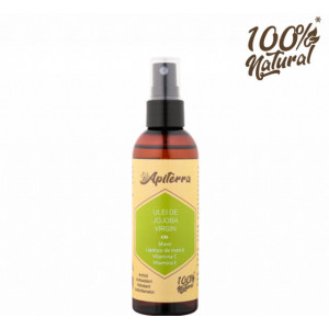Ulei de jojoba virgin cu miere, laptisor de matca, vitamina C si E Apiterra - 100 ml