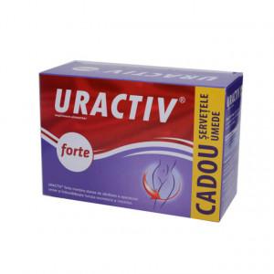 Uractiv forte - 10 cps + servetele intime gratis