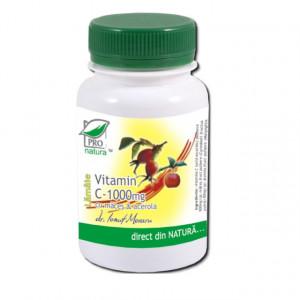 Vitamina C 1000 mg cu Acerola Lamaie cu macese - 100 cpr