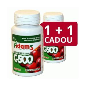Vitamina C-500 cu Macese - 30 cps 1 + 1 Gratis