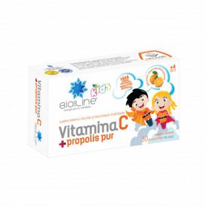 Vitamina C cu propolis pur pentru copii - 30 cpr