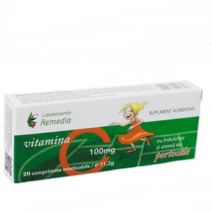 Vitamina C portocale 100 mg - 20 cpr Remedia