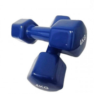 Set gantere epoxy 2 x 4 kg Dayu Fitness albastru