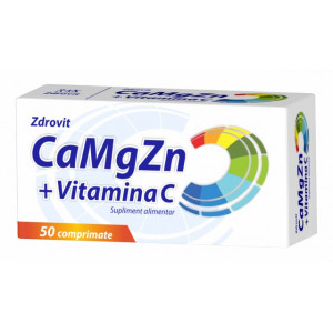 Ca + Mg + Zn + Vitamina C - 50 cpr