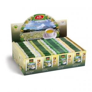 Ceai plante asortat - 120 pliculete cu snur si supraplic Fares