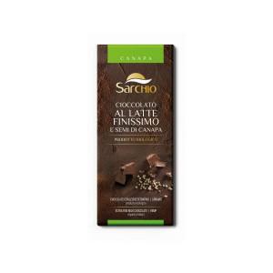 Ciocolata de lapte extra fina cu seminte canepa BIO - 80 g