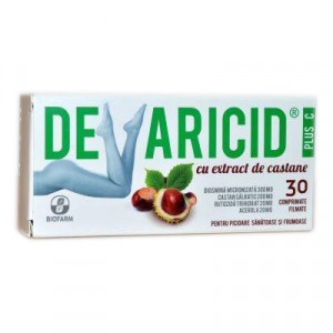Devaricid Plus C cu extract castane - 30 cpr