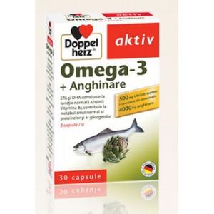 Doppelherz aktiv Omega-3 + Anghinare - 30 cps