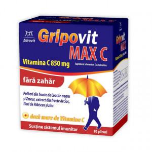 Gripovit Max C 850 mg fara zahar - 10 dz