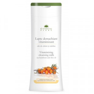Lapte demachiant vitaminizant cu ulei de catina si masline - 200 ml