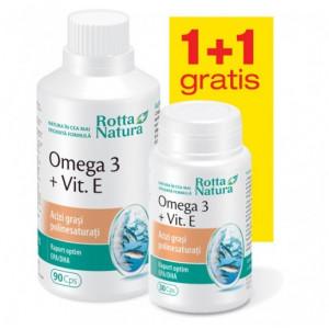 Omega 3 + Vitamina E - 90 cps + 30 gratis