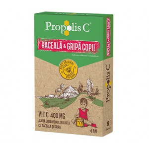 Propolis C Raceala & Gripa Copii - 8 dz
