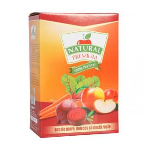 Suc natural de mere - morcov - sfecla rosie - 3L