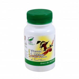 Vitamina C 1000 mg cu Acerola Lamaie cu macese - 60 cpr