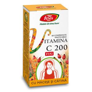 Vitamina C 200 mg cu Macese si Catina, F152 - 60 cpr