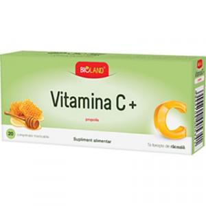 Vitamina C cu Propolis - 20 cpr