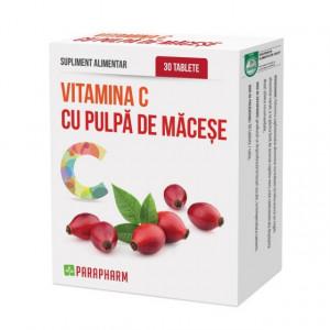 Vitamina C cu pulpa de macese - 30 tbl