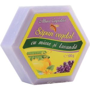Sapun hexagonal cu miere si lavanda - 100g