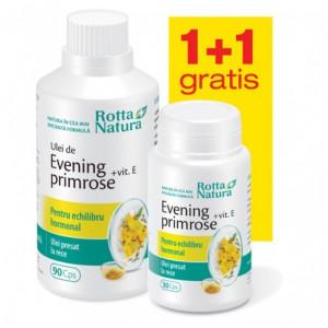 Evening Primrose + Vitamina E - 90 cps + 30 cps Gratis