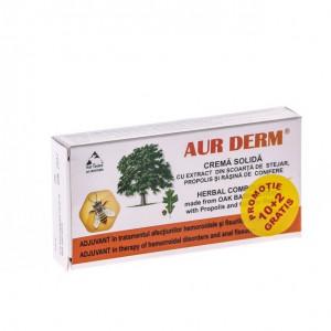 Aur Derm Supozitoare Scoarta Stejar 1.5gr*10+2 Gratis