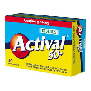 Actival 50+ cu ginseng - 30 cpr