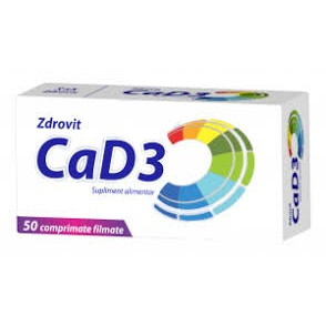 Calciu + Vitamina D3 - 50 cpr