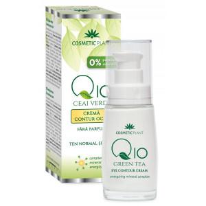 Crema contur ochi Q10 + ceai verde si complex mineral - 30 ml