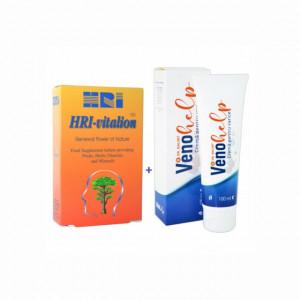 Crema varice VenoHelp - 100 ml + Hri-vitalion - 54 tbl