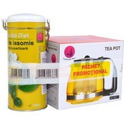 Iasomie Superior cutie metalica - 100 g + Ceainic 1250 ml Promo
