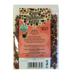 Piper multicolor boabe - 30 g Herbavit