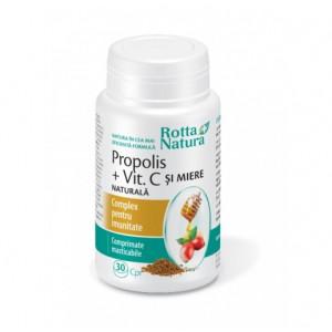 Propolis + Vitamina C Naturala + Miere - 30 cps