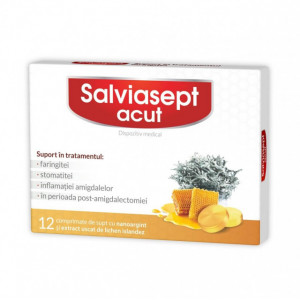 Salviasept acut - 12 cpr