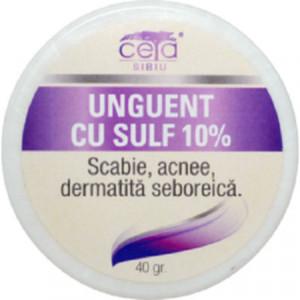 Unguent cu sulf 10% - 40 g