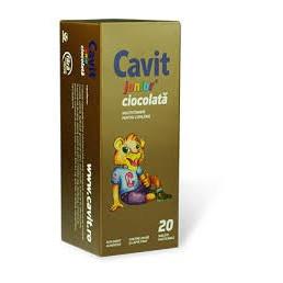 Cavit Junior ciocolata - 20 cpr