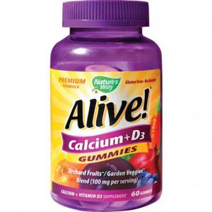 Alive Calcium + D3 Gummies - 60 jeleuri