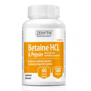 Betaine HCL si Pepsin - 60 cps