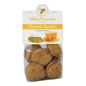Biscuiti digestivi cu miere si polen - 115 g