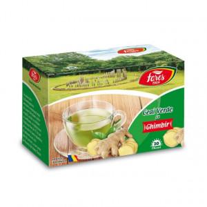 Ceai verde cu ghimbir - 20 pl Fares