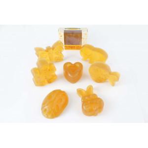 CocoSapun transparent figurine cu argan, galbenele si aroma de pepene galben - 50 g