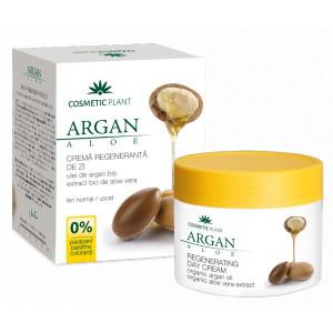 Crema regeneranta de zi cu ulei de argan bio si extract bio de aloe vera - 50 ml
