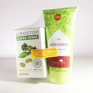 Lipostop Cafea Verde - 30 cps + Gel anticelulitic - 150 ml Cadou