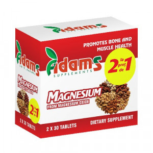 Magneziu 375 mg - 30 cpr 1+1 Gratis