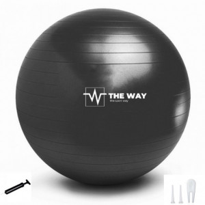 Minge Fitness Anti Burst, pompa inclusa, 55 cm, Negru, TheWay Fitness