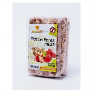Mussli fara gluten cu zmeura-capsuni - 280 g LoveDiet