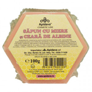 Sapun cu miere si ceara de albine - 100 g Apidava